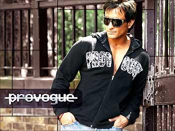 Actor Saif Ali Khan models for Provogue.